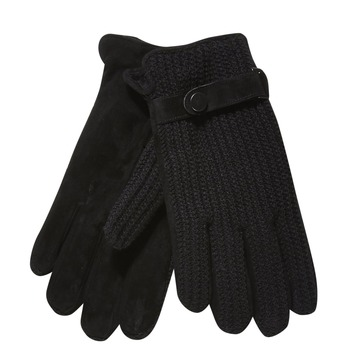 Men´s gloves with knit bata, black , 909-6295 - 13