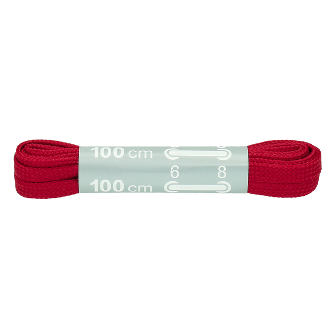 Colour laces bata, red , 999-5366 - 13