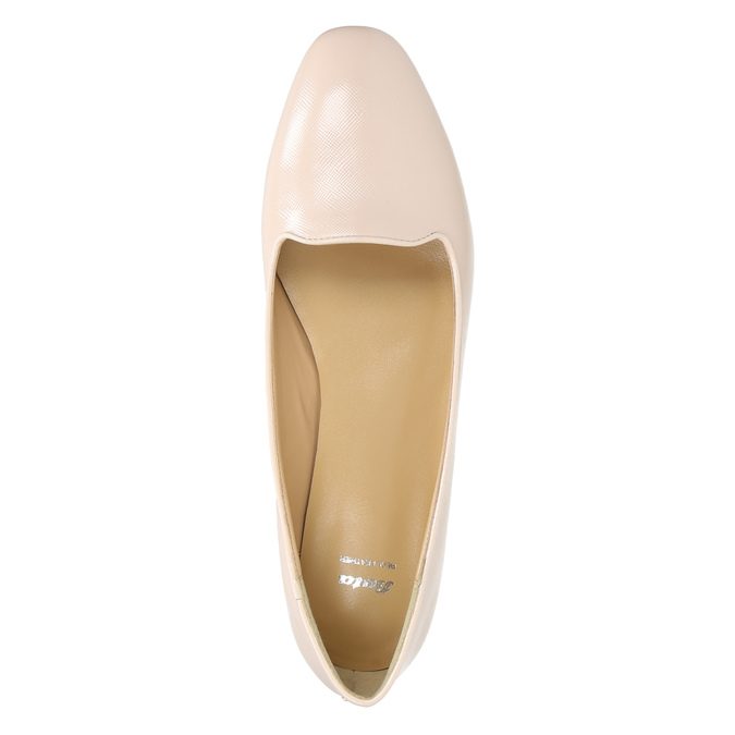 Ladies' leather ballerinas bata, pink , 528-5630 - 26