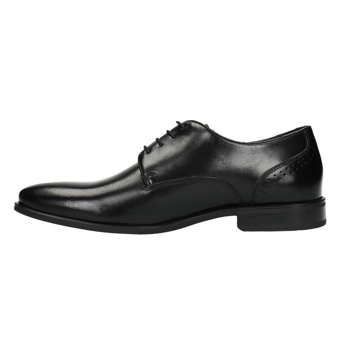 Men's leather shoes bata, black , 824-6705 - 26