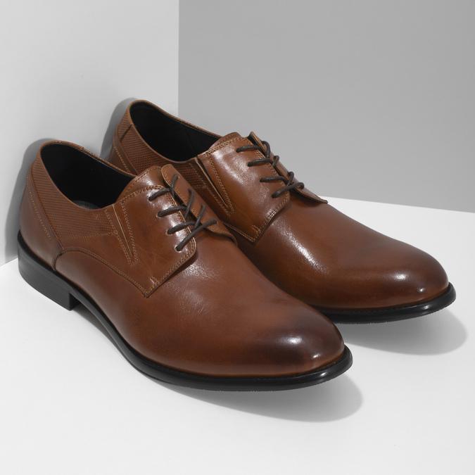 Men's leather shoes bata, brown , 824-4722 - 26