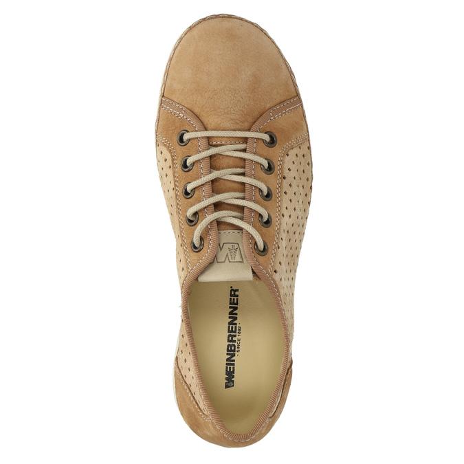 Leather sneakers weinbrenner, brown , 546-4238 - 19