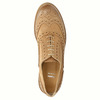 Leather Oxfords with Brogue decorations bata, brown , 524-3482 - 19