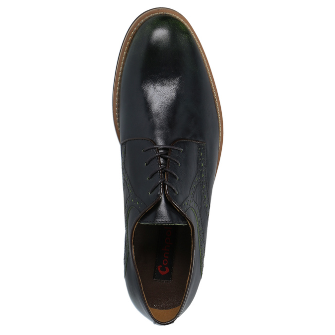 Casual leather shoes with decoration conhpol, blue , 826-7726 - 19