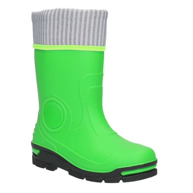 Children´s green Wellington boots mini-b, green, 292-7200 - 13
