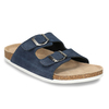 Men's leather slippers, blue , 873-9610 - 13