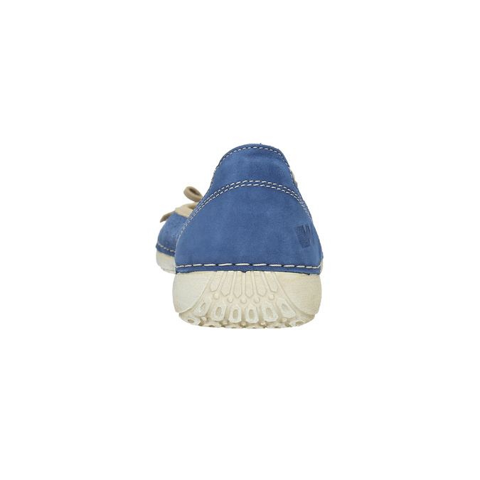 Casual leather ballerinas weinbrenner, blue , 526-9503 - 17