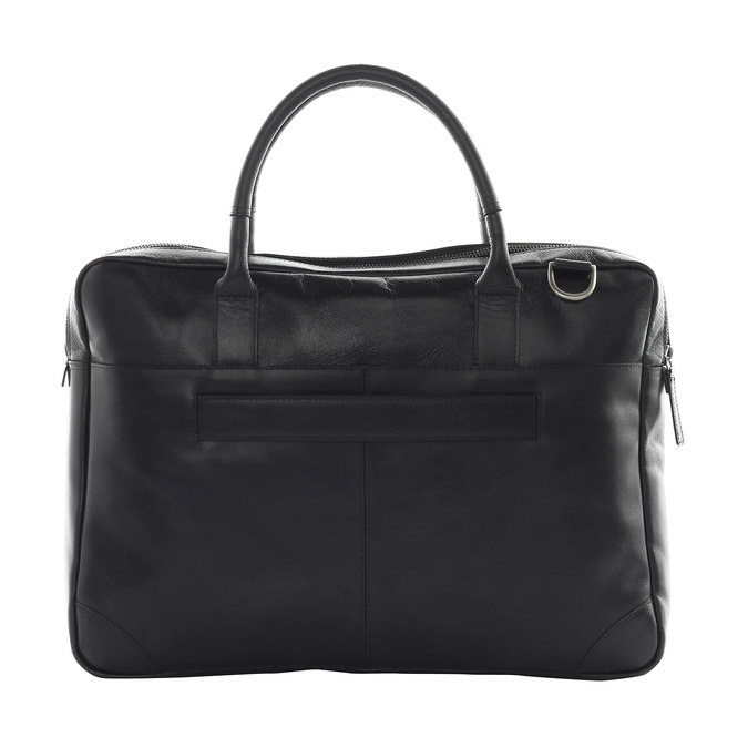 Leather bag with strap royal-republiq, black , 964-6199 - 15
