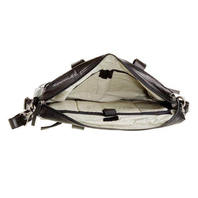 Leather bag bata, black , 964-6153 - 15