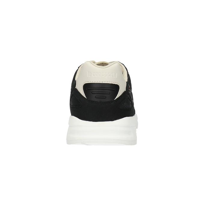 Ladies' sneakers with flower pattern le-coq-sportif, black , 509-6610 - 17