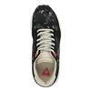 Ladies' sneakers with flower pattern le-coq-sportif, black , 509-6610 - 19