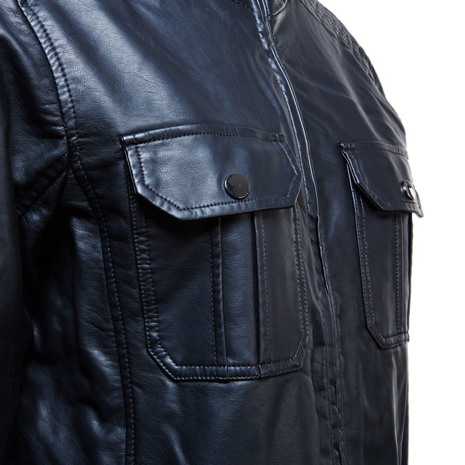 Men's jacket with breast pockets bata, black , 971-6169 - 16