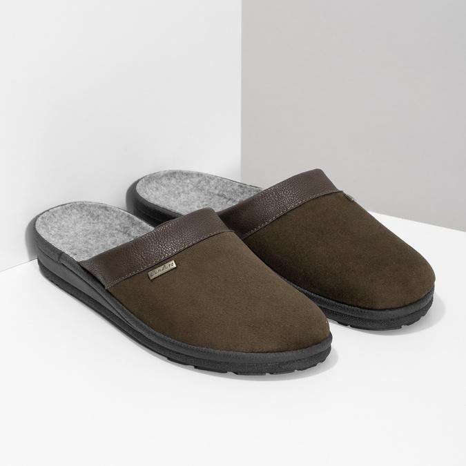 Men's slippers bata, brown , 879-4600 - 26