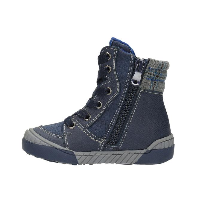 Children's insulated leather boots bubblegummer, blue , 116-9102 - 26