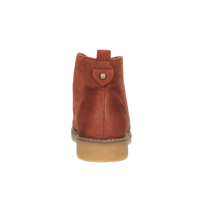 Ladies' ankle boots with colourful lining bata, orange, 599-5605 - 17