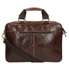 Men's leather satchel bata, brown , 964-4204 - 26