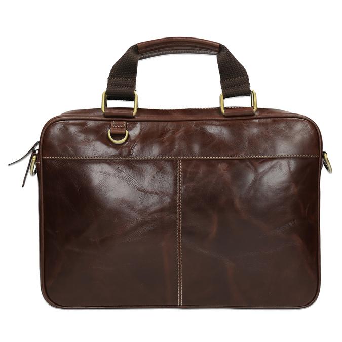 Men's leather satchel bata, brown , 964-4204 - 19
