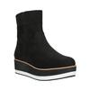 Flatform ankle boots bata, black , 699-6601 - 13