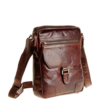 Men´s leather Crossbody bag bata, brown , 964-4180 - 13