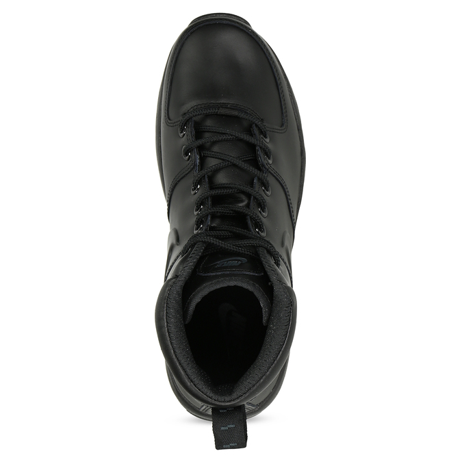 Men's leather ankle boots nike, black , 806-6435 - 17