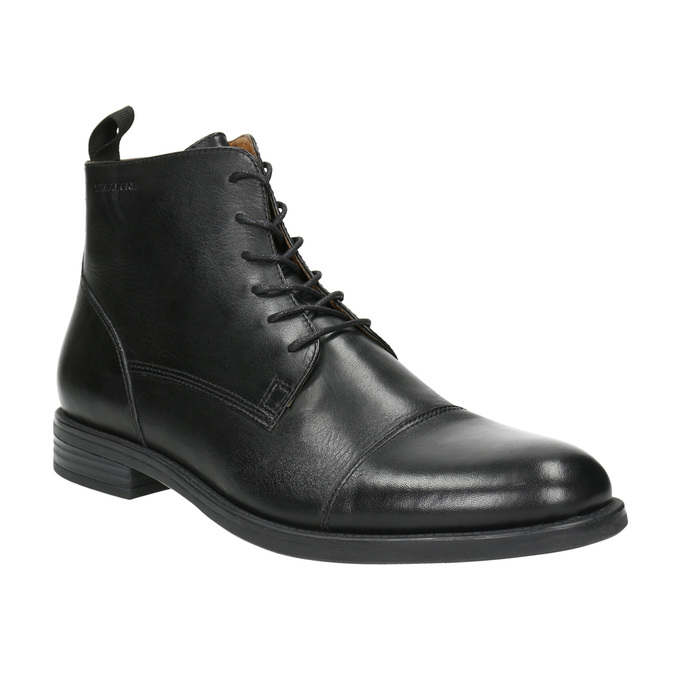 Leather ankle-cut shoes vagabond, black , 894-6001 - 13