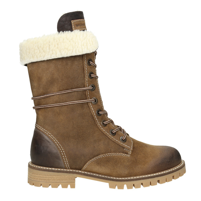 Ladies' winter boots with fur weinbrenner, brown , 593-8476 - 26