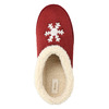 Slippers with artificial fur bata, red , 579-5612 - 19