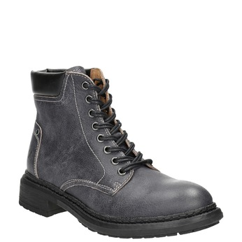 Ladies' leather ankle boots weinbrenner, gray , 596-6632 - 13