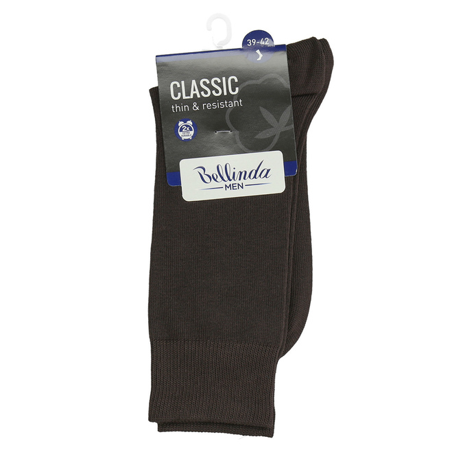 Men's classic socks bellinda, brown , 919-4666 - 13