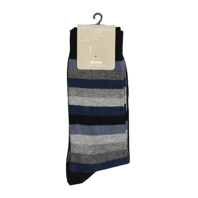 2 pairs men's socks bata, black , 919-6411 - 13