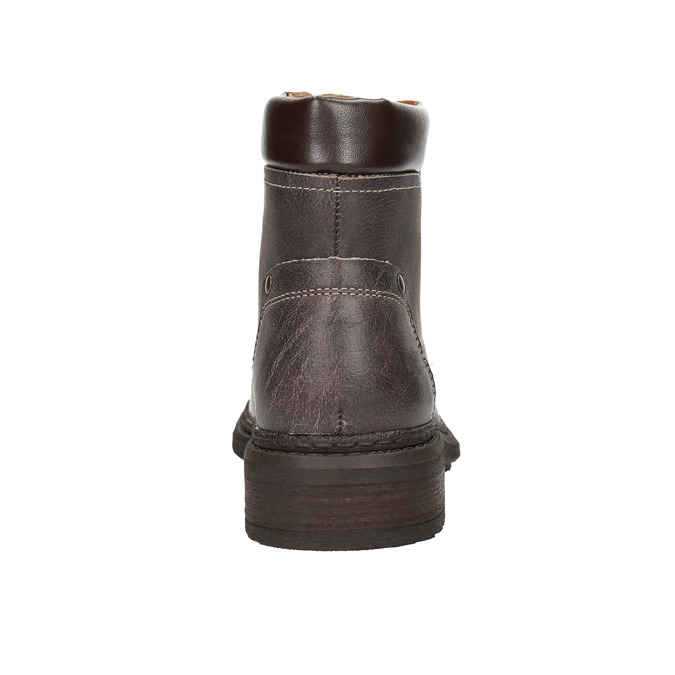Ladies' leather ankle boots weinbrenner, brown , 596-4632 - 17