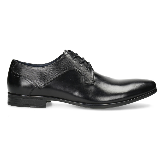 Men's leather shoes bata, black , 824-6758 - 19