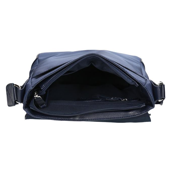 Men's crossbody-style bag bata, blue , 961-9508 - 15