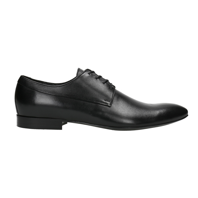 Black leather shoes conhpol, black , 824-6877 - 15