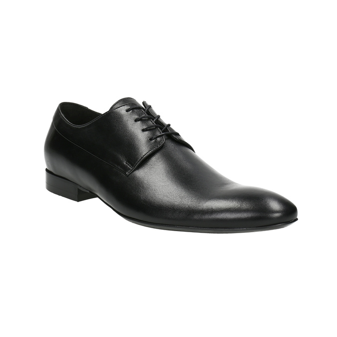 Black leather shoes conhpol, black , 824-6877 - 13