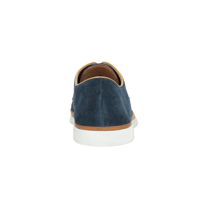 Casual leather shoes bata, blue , 843-9623 - 17