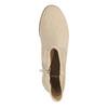Ladies' high ankle boots bata, beige , 599-8614 - 19