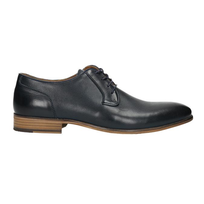 Blue leather shoes bata, blue , 826-9794 - 15