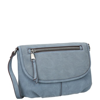Crossbody handbag with perforated flap bata, blue , 961-9709 - 13