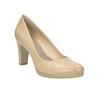 Ladies´ leather pumps, beige , 726-8641 - 13