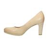 Ladies´ leather pumps, beige , 726-8641 - 26