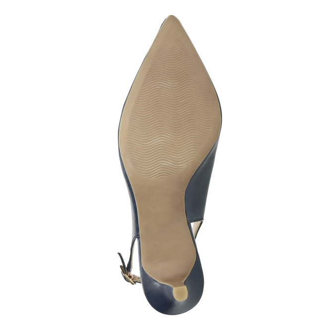Ladies' leather Sling-back pumps pillow-padding, blue , 624-9638 - 26