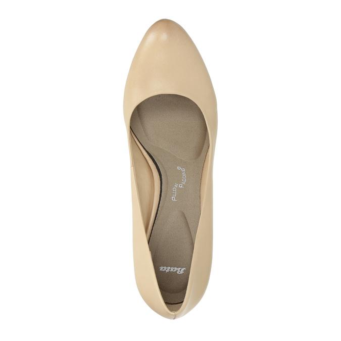 Ladies´ leather pumps, beige , 726-8641 - 19