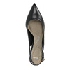 Leather pumps in the Sling-back style pillow-padding, black , 624-6638 - 19