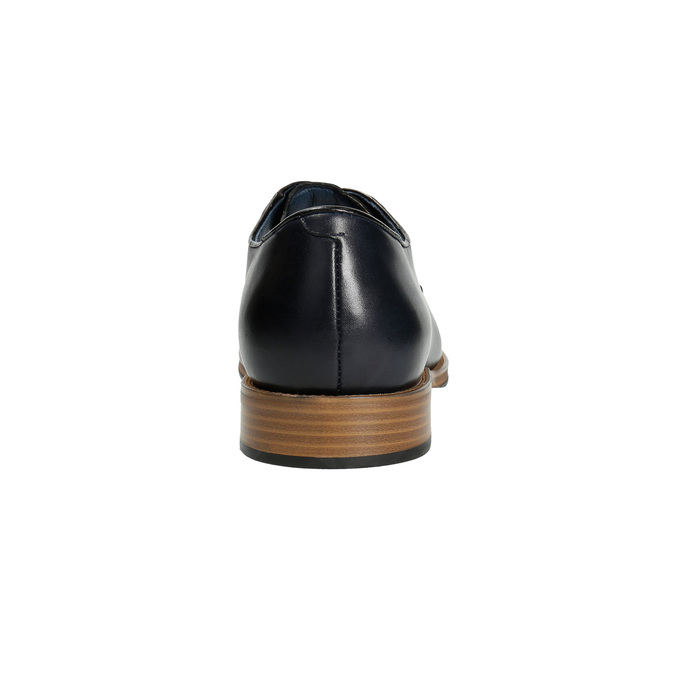 Leather shoes with a casual sole bata, blue , 826-9820 - 17