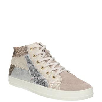 Ladies' leather tennis shoes bata, pink , 526-5614 - 13