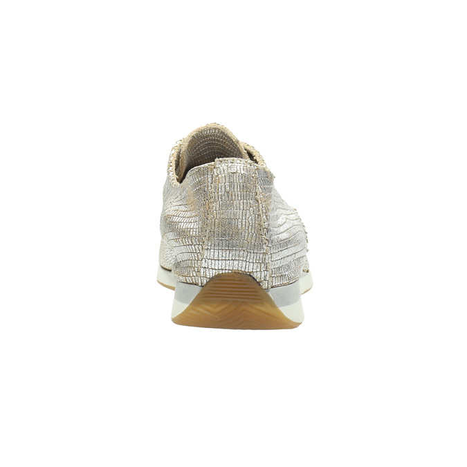 Gold leather sneakers bata, silver , 526-8633 - 17