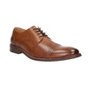 Brown leather Derby-style shoes bata, brown , 826-3812 - 13
