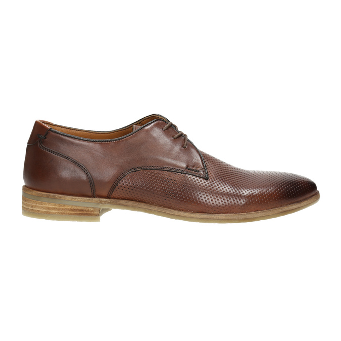 Casual brown leather shoes bata, brown , 826-4807 - 15