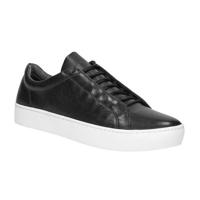 Ladies' leather tennis shoes vagabond, black , 624-6019 - 13